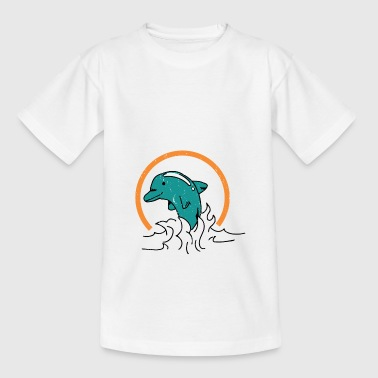 Delphin Vintage Style Fisch - Teenager T-Shirt
