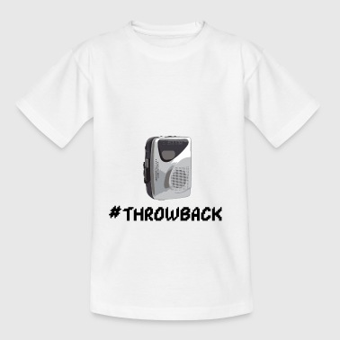 Throwback cassette player - Teenage T-Shirt