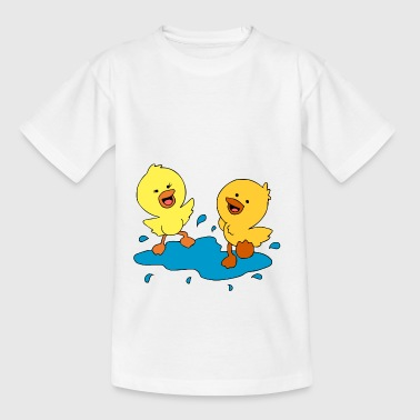 Sweet eendjes spetteren in een plas - Teenager T-shirt
