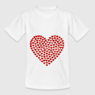 Red heart of little hearts - Teenage T-Shirt