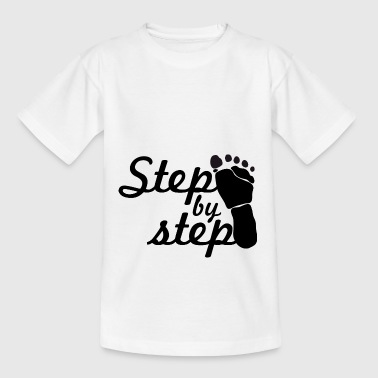 step by step - Teenage T-Shirt