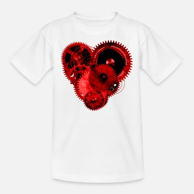 Steam Punk Steampunk Valentine Heart T-Shirt - Camiseta adolescente