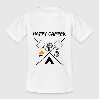 Happy Camper Outdoor Camping Gift Idea Nature - Teenager-T-shirt