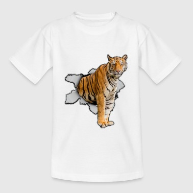 Tiger 3D Effekt Zoo Tier - Teenager T-Shirt