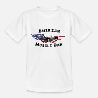 Muscle American muscle car - Teenage T-Shirt