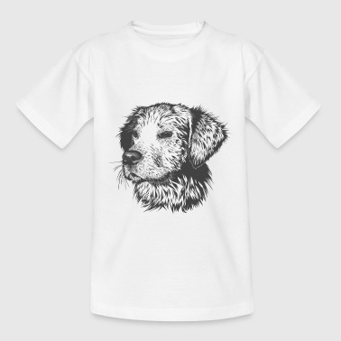 Hondenportret Golden Retriever - Teenager T-shirt