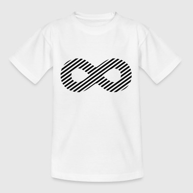 Infinity sign - pattern stripes - Teenage T-Shirt