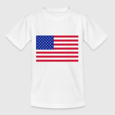 Flagge Amerika - Teenager T-Shirt