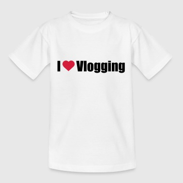 Ik hou vlogging - Teenager T-shirt