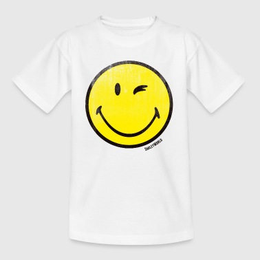 SmileyWorld Classic Winking Smiley - Teenager T-shirt