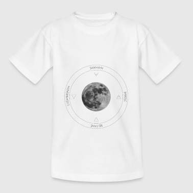 Moon year circle black - Teenage T-Shirt
