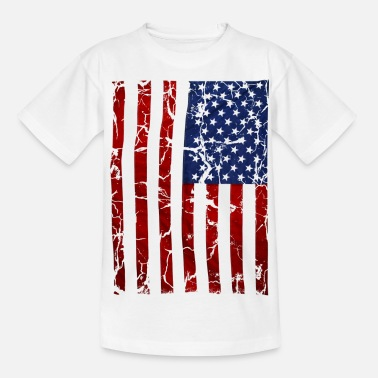 Stars And Stripes US flag vintage stars and stripes white shirt - Teenager T-Shirt