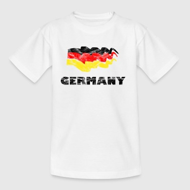 Fußball Flagge Fan Shirt Germany - Teenager T-Shirt