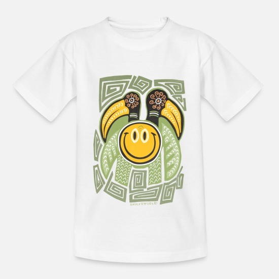 "Officialbrands T-Shirts - Smiley World ""Tiki Bird"" Teenager T-Shirt - Teenager T-Shirt Weiß"