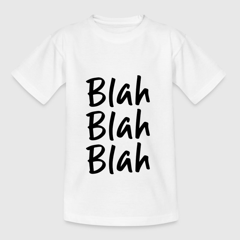 Blah Blah Blah Party Lifestyle Gift - Teenage T-Shirt