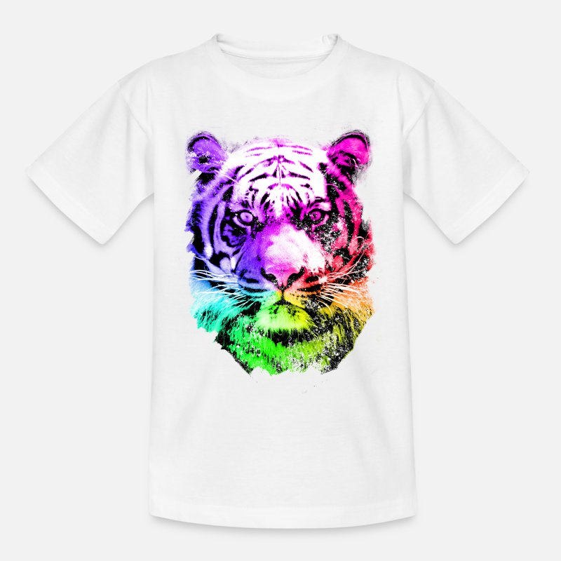 Tigre T-shirts - tiger - tigre - big cat - pshycho - T-shirt Ado blanc