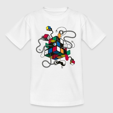Rubik's Cube Robot Style - Teenager-T-shirt