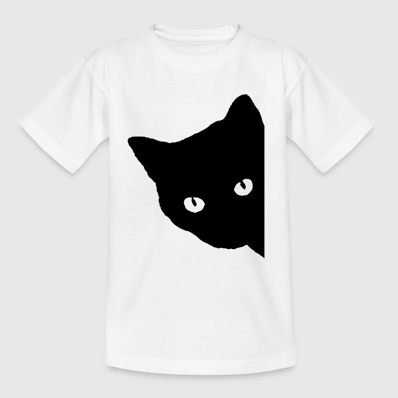 Cat silhouette - Teenage T-shirt