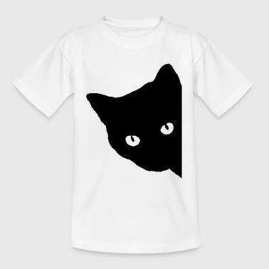 Kat silhuet - Teenager-T-shirt
