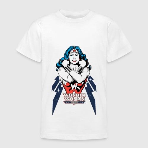 wonder woman power 2 teenager t shirt von wonderwoman. Black Bedroom Furniture Sets. Home Design Ideas