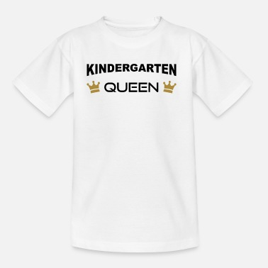 Kroon Queen Kindergarten Queen met kroon - Teenager T-shirt