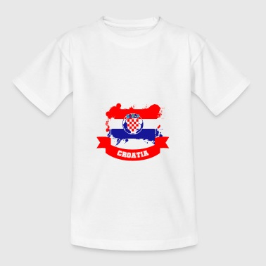 Soccer Croatia Soccer Fan Fanshirt - Teenage T-Shirt