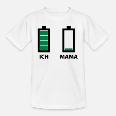 Batteriestand Ich & Mama - Teenager T-Shirt