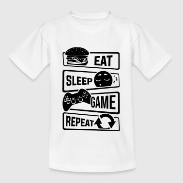 Eat Sleep Spil Repeat - Gamer Gaming Video Games - Teenager-T-shirt