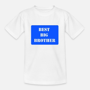Blues Brothers Best Big Brother Blue - Teenage T-Shirt