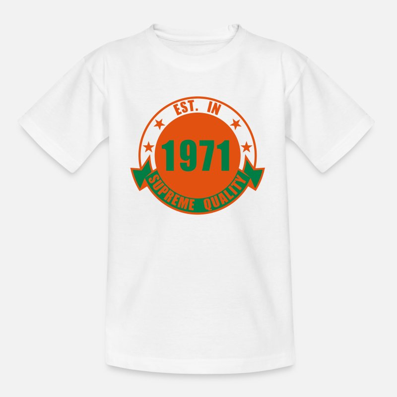 Boys T-Shirts - 1971 Supreme - Teenage T-Shirt white