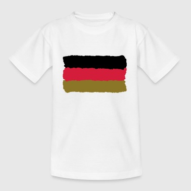 schwarz rot gold Deutschland Fahne Germany - Teenager T-Shirt