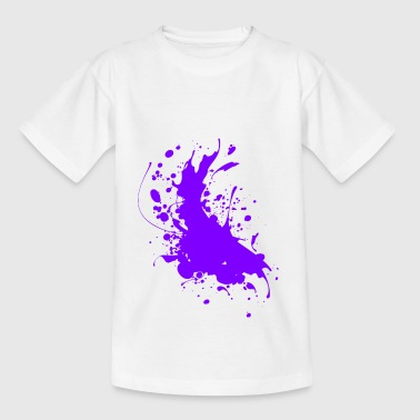 Splatter paint splashes Abstract - Teenage T-Shirt