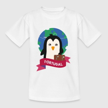 Pingvin Globetrotter fra Portugal S131bt - Teenager-T-shirt