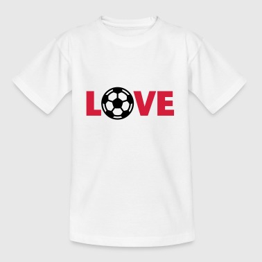 Fútbol – Love (I Love Football) - Camiseta adolescente