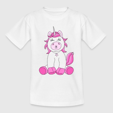 Suesses Einhorn mit Kussmund in pink - Teenager T-Shirt