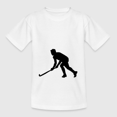 ijshockey hockey skates skates puck hel - Teenager T-shirt