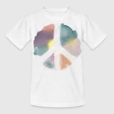 Water Color Peace Aquarell - Teenager T-Shirt