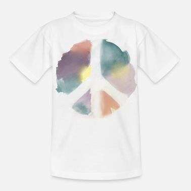 Politik Water Color Peace Aquarell - Teenager T-Shirt