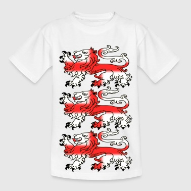 Three English Lion Passants with St George's Cross - Teenage T-Shirt