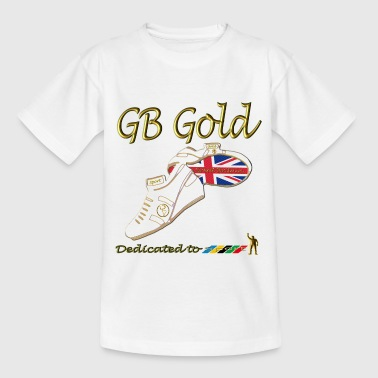 great britain union jack gold_stripes - Teenage T-shirt