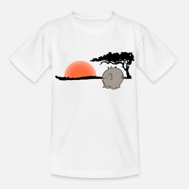 Webcomic Ngumbe im Sonnenuntergang - Teenager T-Shirt
