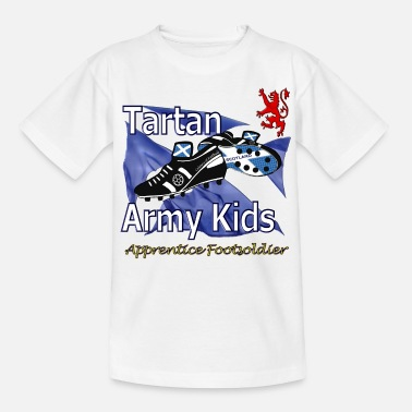Tartan Football tartan army kids scotland - Teenage T-Shirt