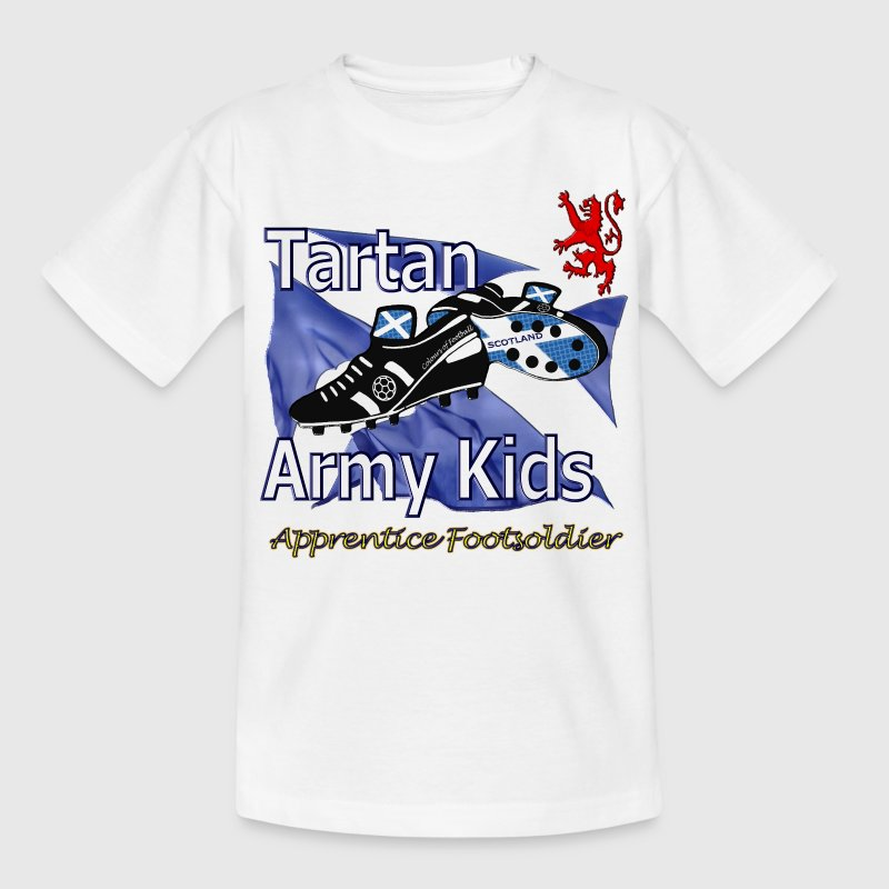 tartan army kids scotland - Teenage T-shirt