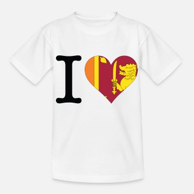 Indian Tiger I love Sri Lanka - Teenage T-Shirt