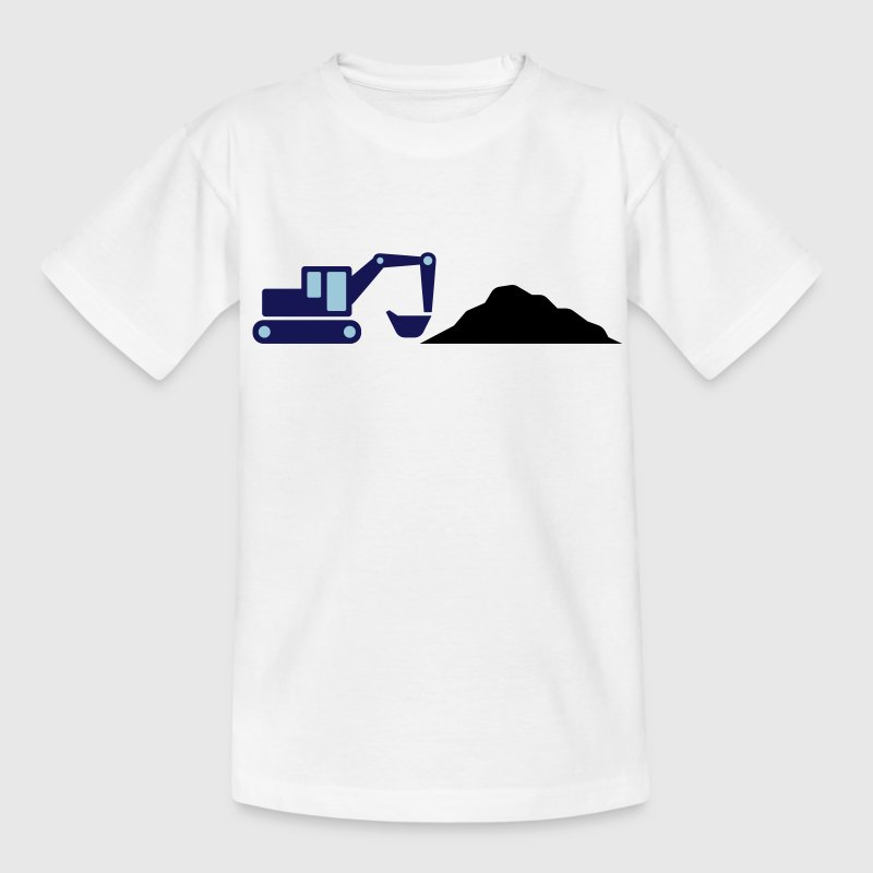 Excavator on a construction site - Teenage T-shirt