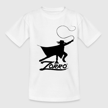 Zorro The Chronicles Silhouette With Whip - Teenage T-shirt