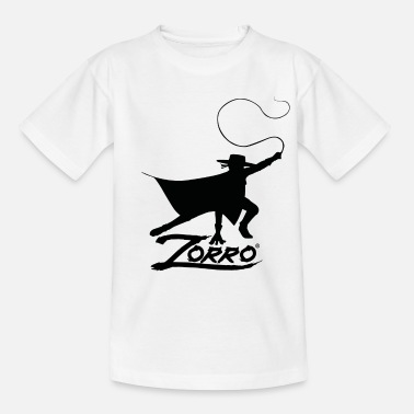 Don Diego De La Vega Zorro The Chronicles Silhouette With Whip - Teenage T-Shirt