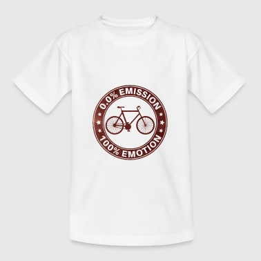 0% Emisión 100% Emotion Funny Bicycle Shirt - Camiseta adolescente