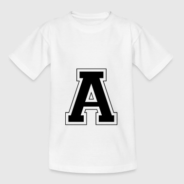 Bogstav A - Teenager-T-shirt