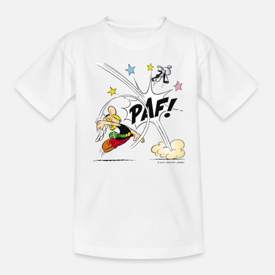 Tv T-Shirts - Asterix & Obelix - Asterix Faust Teenager T-Shirt - Teenager T-Shirt Weiß